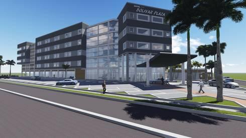 HOTEL BOLIVAR PLAZA ***:  de estilo  por GMS ARQUITECTOS, C.A.