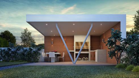 QUINCHO VERDUGO: Terrazas  de estilo  por AOG SPA