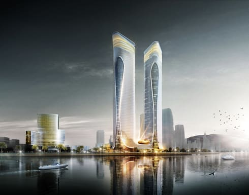 Zhuhai Hengqin Headquarters Complex (Phase II), Zhuhai, China:  Commercial Spaces by Aedas