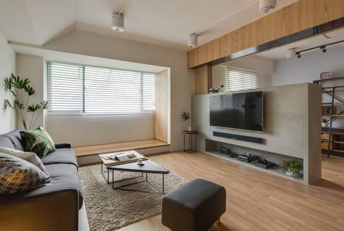客廳電視牆:  客廳 by 御見設計企業有限公司