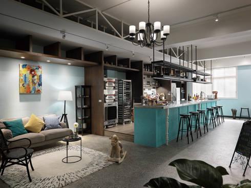 玩食樂章-烘培坊的整體氛圍:  餐廳 by 一水一木設計工作室