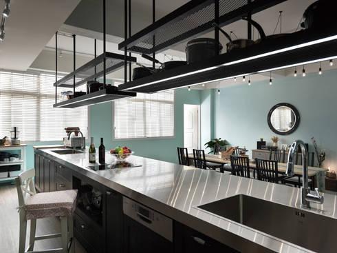 料理台的陳列:  餐廳 by 一水一木設計工作室
