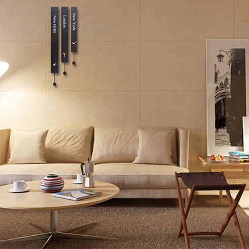 Kairos Pendulum Souvenir World Wall Clock: modern Living room by Just For Clocks