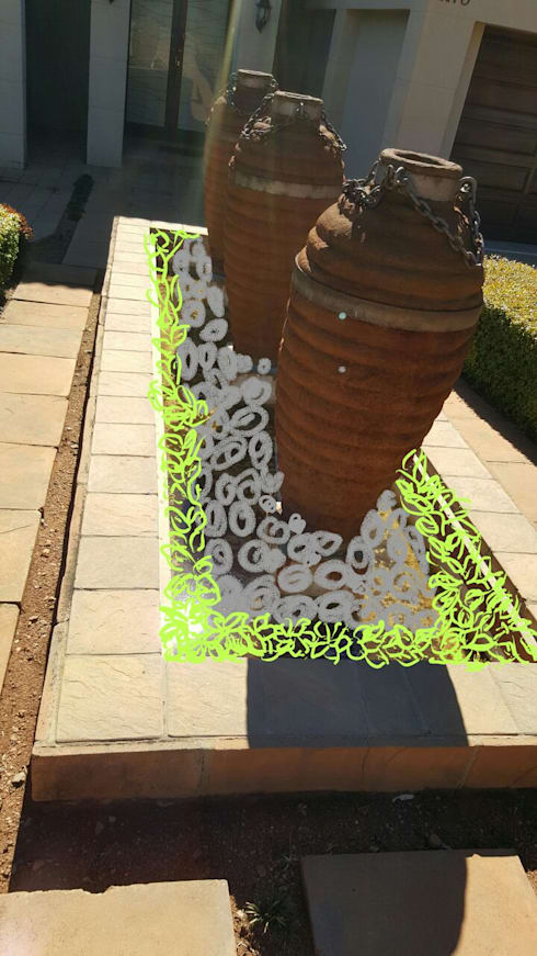 Design a garden:   by SOJE Interior, Design and Decor PTY (Ltd)