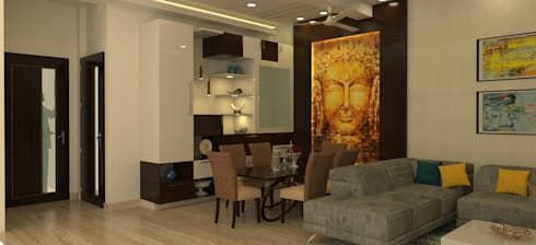 Dining Area: modern Living room by Prodigy Designs