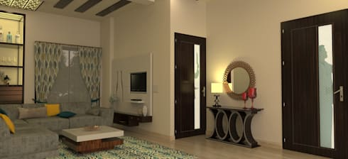 Entrance Area: modern Living room by Prodigy Designs