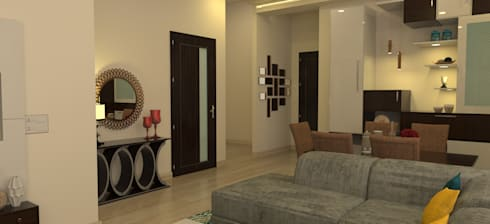 Foyer area: modern Living room by Prodigy Designs