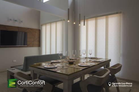 Hacienda Casa Blanca  – Yopal,Casanare : Sala multimedia de estilo  por CortiConfort