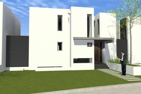 CONDOMINIO LAS  CORTEZAS DE PEÑALOLEN: Casas de estilo mediterraneo por AOG SPA