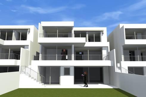 CONDOMINIO LAS  CORTEZAS DE PEÑALOLEN: Condominios de estilo  por AOG SPA