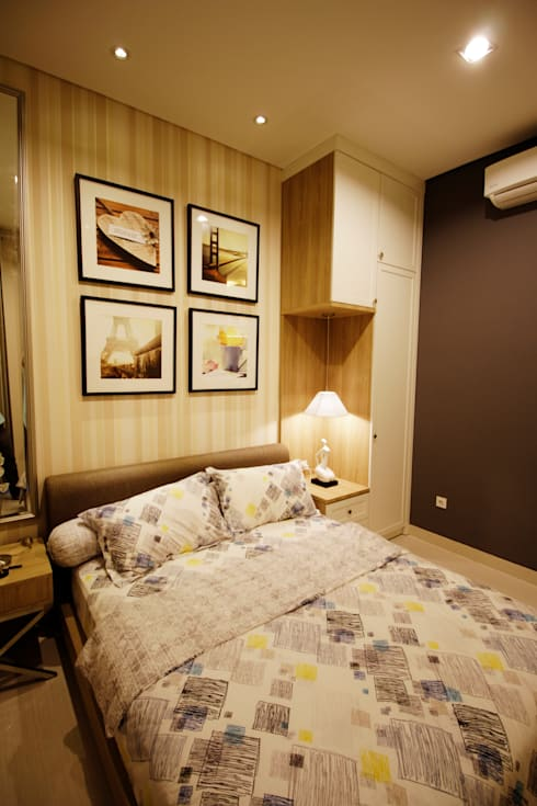 Guest bedroom:  Kamar Tidur by Kottagaris interior design consultant