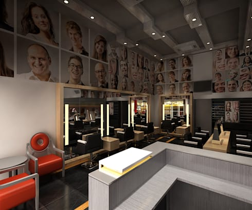 Salon and Spa:  Commercial Spaces by Srijan Homes
