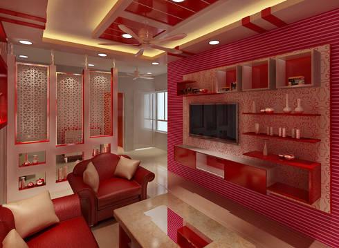3 Bedroom Independent Floor: modern Living room by Srijan Homes