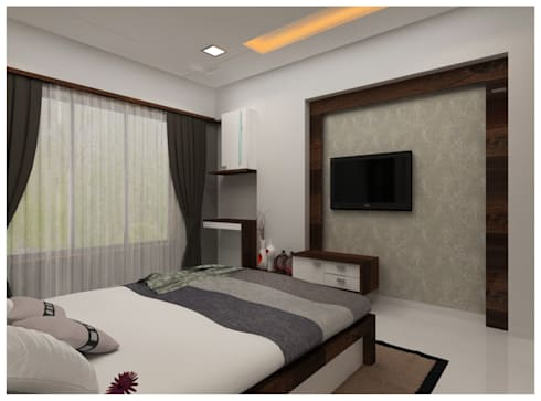 Our Work: modern Bedroom by Shrishti Associates