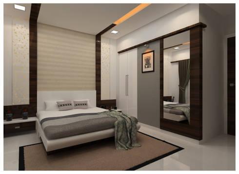 Bedroom: modern Bedroom by Shrishti Associates