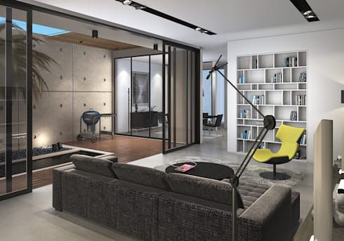 Bangka X House:  Ruang Keluarga by INK DESIGN STUDIO