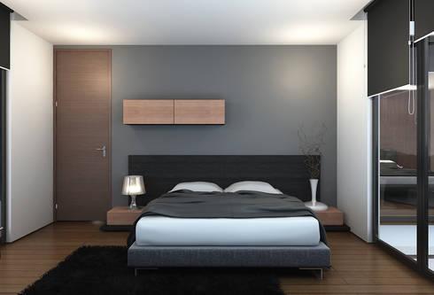 Bangka X House:  Kamar Tidur by INK DESIGN STUDIO