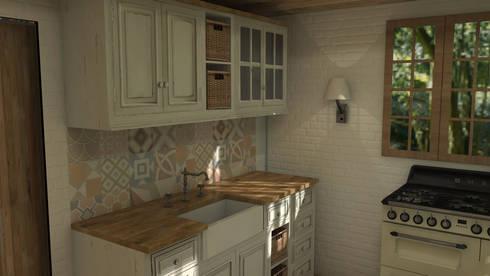 Mountain house: Cocinas de estilo rústico de Blophome
