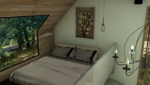 Mountain house: Dormitorios de estilo rústico de Blophome