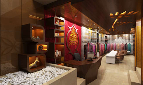 Showroom Design: modern Living room by M/s GENESIS
