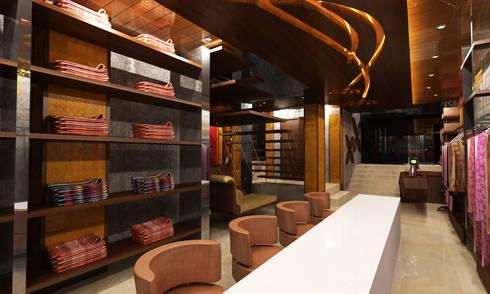 Showroom Design: modern Media room by M/s GENESIS