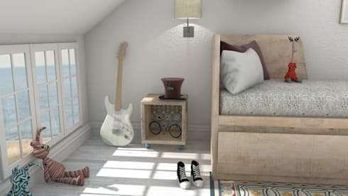 Kids' bedroom: Habitaciones juveniles de estilo  de Blophome