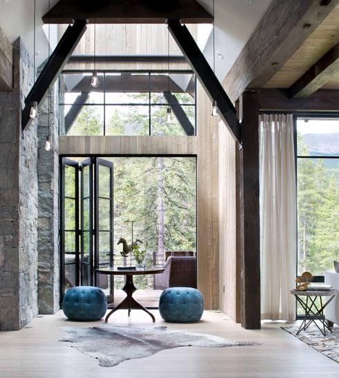 Contemporary Mountain Chalet:  Corridor & hallway by Andrea Schumacher Interiors