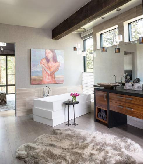 Contemporary Mountain Chalet: modern Bathroom by Andrea Schumacher Interiors