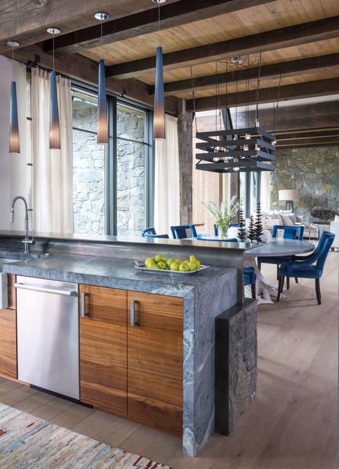 Contemporary Mountain Chalet: modern Kitchen by Andrea Schumacher Interiors