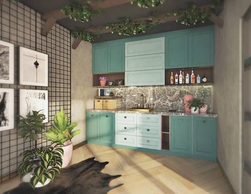 Botanical Kitchen:  Dapur by Veon Interior Studio