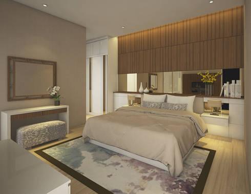 Modern Bedroom:  Kamar Tidur by Veon Interior Studio