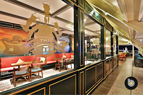 Riva Rooftop Bar & Restaurant:  Restoran by BB Studio Designs