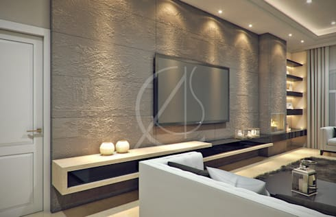 Modern classic villa interior design by comelite for Classic villa interior design