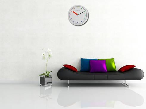 Nextime Colour Change Stripe: modern Living room by Just For Clocks
