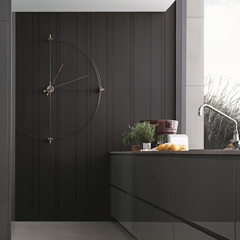 Nomon Delmori - Walnut & Black: modern Kitchen by Just For Clocks