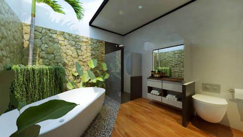 Tropical Bathroom:   by Fourhoms Design