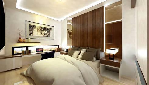 Master Bedroom:   by Fourhoms Design