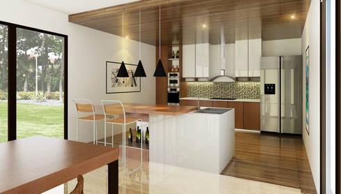 Kitchen:   by Fourhoms Design