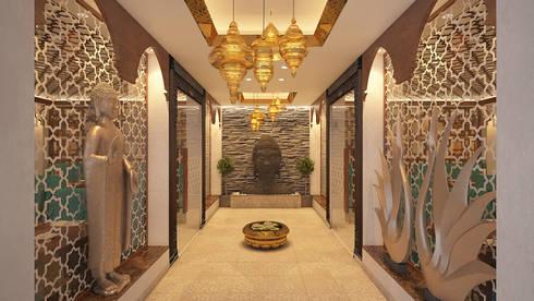 Restaurants:  Corridor & hallway by Vivitsu Design
