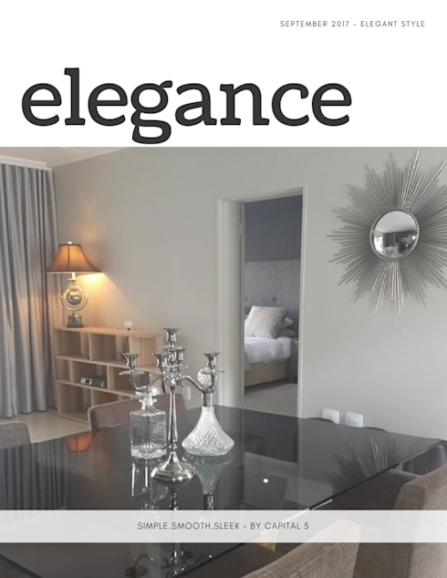 Elegance: modern Living room by Capital 5 Consulting