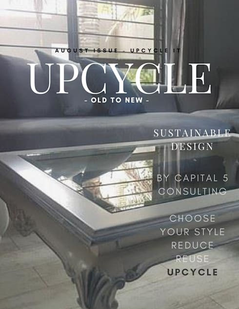 Upcycle: classic Living room by Capital 5 Consulting