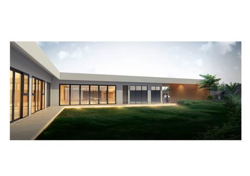 Tampak Depan VW Villa:   by Solid+ Design Studio