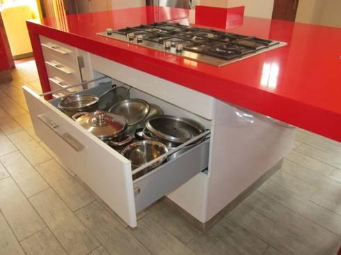 Mueble cajonera porta ollas: Cocina de estilo  por ABS Diseños & Muebles