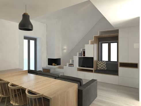 mediterranean Living room by Grupo Norma