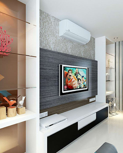 Living room by Akilla Concept