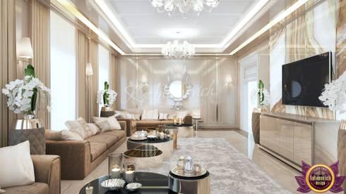 Living room  design in Nairobi from Katrina Antonovich: modern Living room by Luxury Antonovich Design
