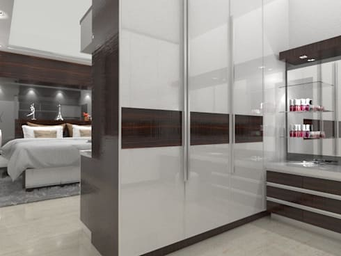 House at Batununggal Abadi: modern Dressing room by Asera.Atelier