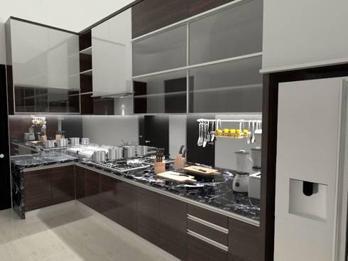House at Batununggal Abadi: modern Kitchen by Asera.Atelier
