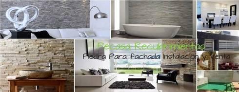 Venta e Instalacion de Recubrimientos Residenciales: Casas de estilo moderno por PECASA RECUBRIMIENTOS