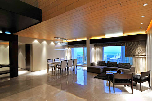 Ozone Penthouse: modern Living room by SM Studio
